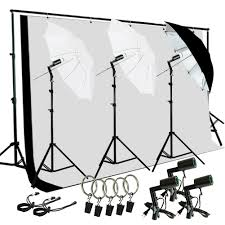 backdrop stand photo studio lighting photography muslin light kit