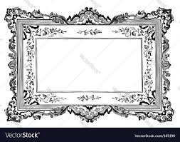 antique frame. Antique Frame Engraving Vector Image