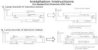 replace fluorescent light with led lovely how to and install fixtures change l46