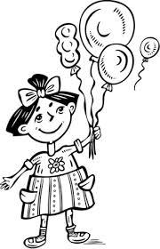 Disegno Di Bambina Con Palloncini Da Colorare Disegni Da Colorare