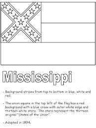 Small Picture Mississippi State Flag