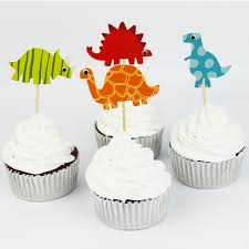 Cupcake Decorating Accessories 100pcs Dinosaur Cupcake Toppers Picks Funny Wedding Cake Toppers 57