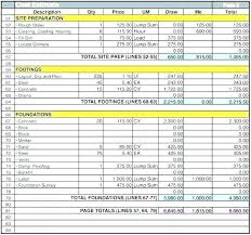 Commercial Construction Budget Template House Building Budget Template