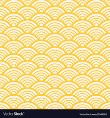 Asian Patterns Mesmerizing Traditional Asian Gold Wave Pattern Royalty Free Vector