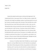 english paper great influence eng great 4 pages english 102 essay response