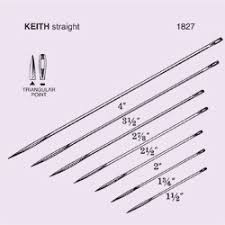 Surgical Needle Chart Needle Suture Ns Keith Straight Abdominal Triangular Point