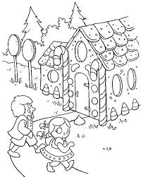 Small Picture Two Kids Going to Gingerbread House Coloring Page NetArt