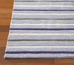 blue green sawyer stripe rug swatch