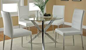 clio modern round glass kitchen table set