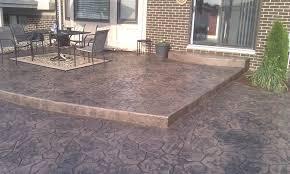 backyard stamped concrete patio ideas maintenance