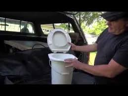 diy camping toilet with stable