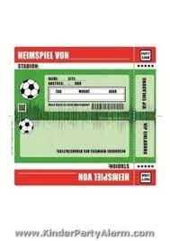 Klicken sie auf eine der vorschaubilder oder spezielle. Fussball Ticket Einladung