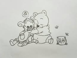 Winniethepooh Art Fun Cute Disney Drawing Sketch プーさん