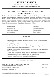 Examples Of Resumes Emt Basic Resume How To Write A Good Summary