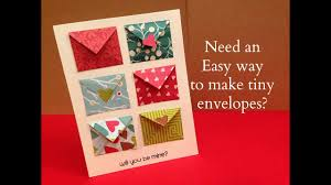 report card envelopes how to make tiny envelope and a card tutorial youtube
