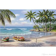 2018 handmade sung kim paintings tropical bay modern art seascapes oil on canvas for living room decor from cherry02016 108 55 dhgate com
