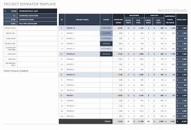 Work Estimate Templates Project Cost Estimate Template Stanley Tretick