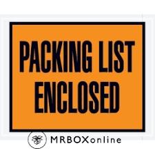 4 5x5 5 Packing List Enclosed Poly Envelopes Mrboxonline