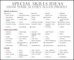 Skill Words For Resume Resume Skills List Job Application Form Skill