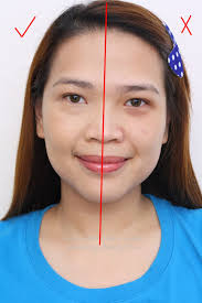 a before and after photo using make up for ever ultra hd foundation