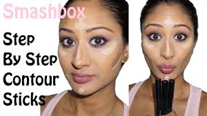 smashbox step by step contour sticks review and demo makeup by megha you