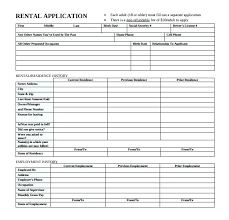 Renters Application Template Apartment Application Form Template Skincense Co