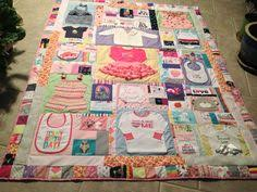 Baby clothing quilt - first year quilt made of all the cutest bits ... & quilt made out of first year baby clothes Adamdwight.com