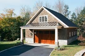 porch overhang with everlast standing seam on 30 x 36 newport custom garage