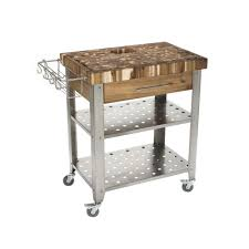 home depot stainless steel kitchen cart