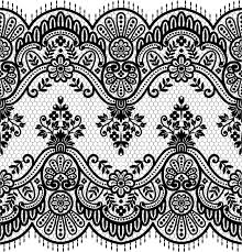 lace seamless borders vectors set 01