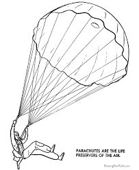 Parachute Coloring Pages Many Interesting Cliparts