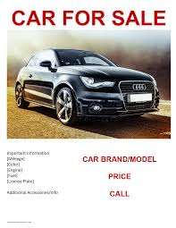 selling flyer template car for sale flyer template