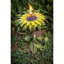 desert steel 32 in sunflower garden