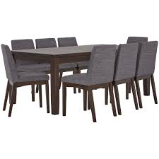 city furniture hayden dark gray rectangular table 4 gray dining table and chairs