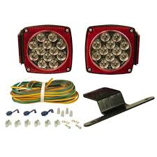com blazer c5721 led square submersible trailer light kit for wiring diagram for led