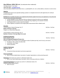 sample clinical nurse specialist resume clinical nurse specialist sample resume melnic