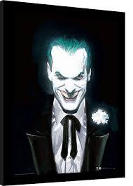 Dc Comics Joker Suited Rámovaný Obraz Na Zeď Posterscz
