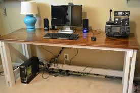 diy standing desk stand cable