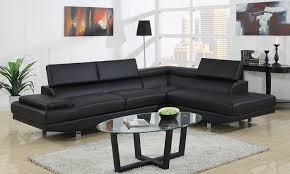 modern black bonded leather sectional sofa modern leather sectional couch47 modern