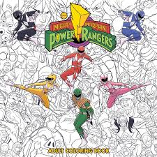 mighty morphin power rangers coloring book paperback 2 nov 2018