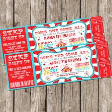 circus invitation vintage circus carnival invitation ticket invitation carnival circus birthday party diy printable