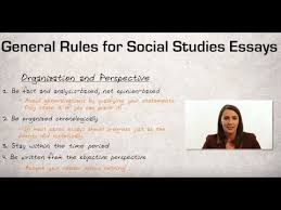 general rules for social studies essays  general rules for social studies essays