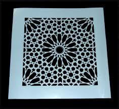 Moroccan Tile Pattern Classy Custom Damask Moroccan Tile Pattern Mylar Stencil Laser Cut By