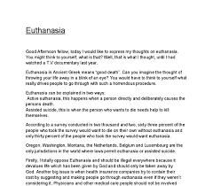 argumentative essay on euthanasia against it dissertation  ending an argumentative essay on