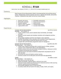 Good Resume Examples Retail Best Retail Customer Service Representative Resume Example