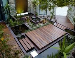 Get inspired with this amazing photo of small japanese garden design ideas  with pond and wooden deck. You can't be wrong with it.