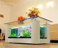 modern fish tank coffee table