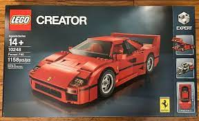 As can be seen in the photos it is sealed and is ready to be built or to be added to a collection. Lego Ferrari F40 Creator 10248 Sports Car New Sealed Ferrari F40 Ferrari Lego Creator