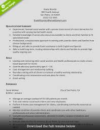 Resumes How To Write Perfect Social Worker Resume Examples