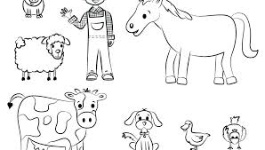 animal coloring pages for toddlers animal coloring pages toddlers barnyard animals crafts and activities with easy